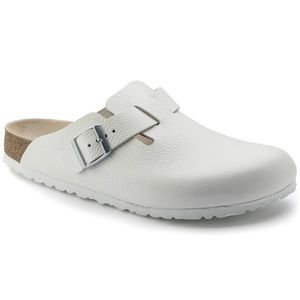 Birkenstock White Leather Boston Clog 40 L9 M7
